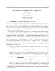 Dynamics of the Random-Field Ising Model 1 ... - Cornell University