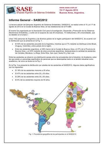 SASE 2012 - Informe general