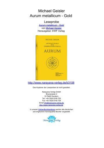 Michael Geisler Aurum metallicum - Gold
