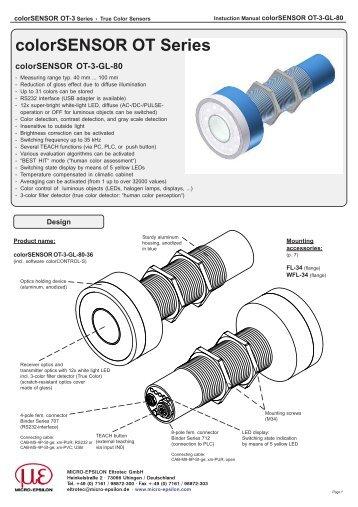colorSENSOR OT-3-GL-80 - Micro-Epsilon