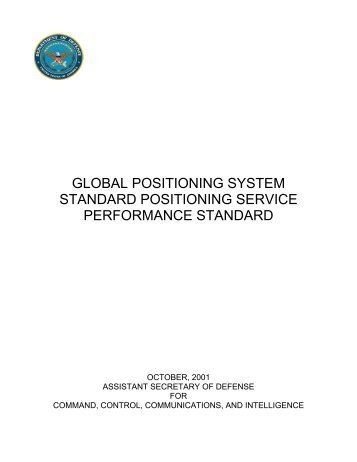 2001 GPS SPS Performance Standard Final - US Coast Guard ...