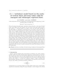 A k–ε turbulence model based on the scales of vertical shear and ...