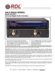 RDL HR-UDC1 - Full Compass