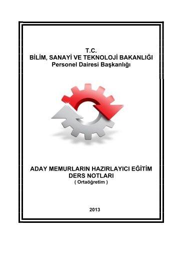 Orta - Personel Dairesi Başkanlığı - Bilim, Sanayi ve Teknoloji ...