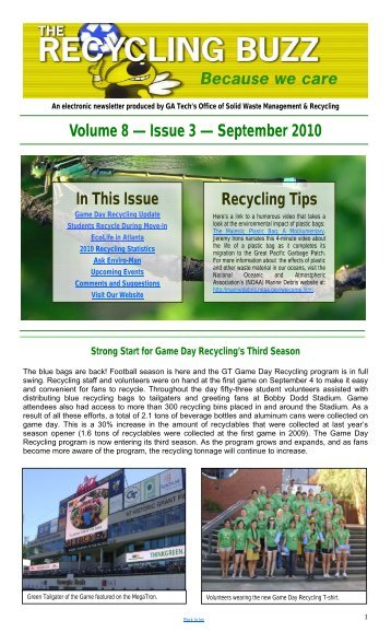 Volume 8 — Issue 3 - Georgia Tech - Office of Solid Waste ...