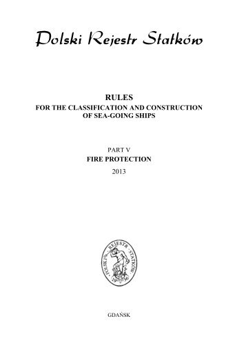Part V – Fire Protection – 2013 - PRS