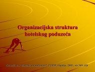 Organizacijska struktura hotelskog poduzeća - LUMENS