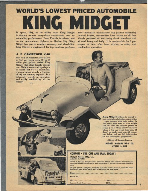WORLD'S LOWEST PRICED AUTOMOBILE