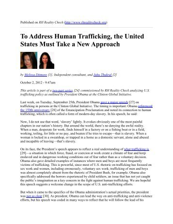 To Address Human Trafficking, the United States Must Take a New ...