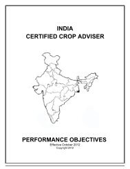 India CCA Performance Objectives - Certified Crop Adviser