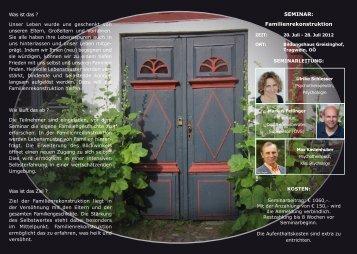 Seminar: Familienrekonstruktion
