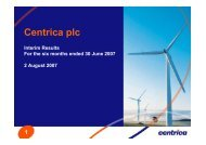 Interim results Presentation slides 2007 - Download PDF - Centrica