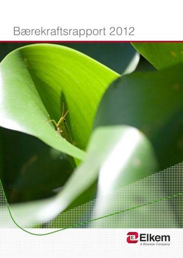 Bærekraftsrapport 2012 - Elkem