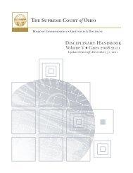 disciplinary handbook: volume v - Supreme Court - State of Ohio