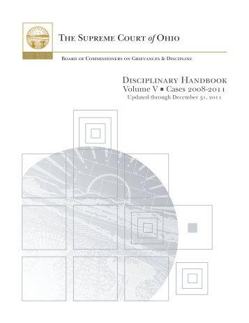 disciplinary handbook: volume v - Supreme Court - State of Ohio