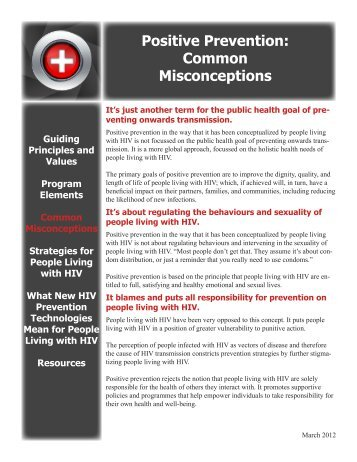 Positive Prevention: Common Misconceptions