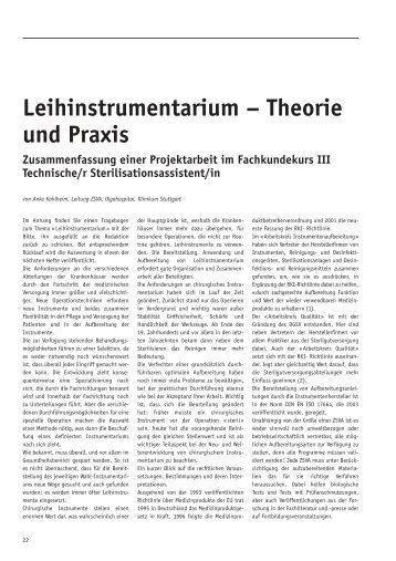Leihinstrumentarium – Theorie und Praxis