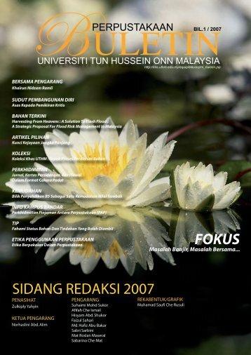 sidang redaksi 2007 fokus - UTHM Library - Universiti Tun Hussein ...
