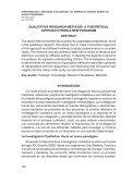 Investigación y métodos cualitativos - Portal de Revistas ... - Page 2