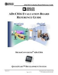 aduc816 evaluation board reference guide microconverter