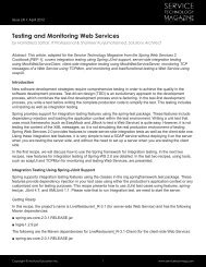 Testing and Monitoring Web Services - Service Technology Magazine