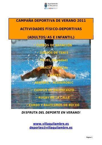 campaña deportiva de verano 2011 actividades físico-deportivas
