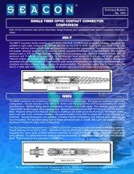 1001 - Single Fiber Optic Contact Comparison.qxp - Seacon