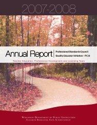 2007-2008 Annual Report - Teacher Education, Professional ...