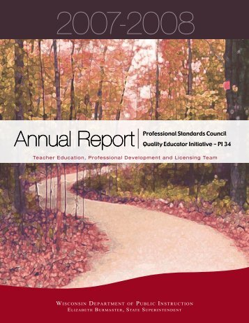 2007-2008 Annual Report - Teacher Education, Professional ...