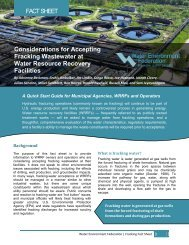 Considerations for Accepting Fracking Wastewater at Water ...