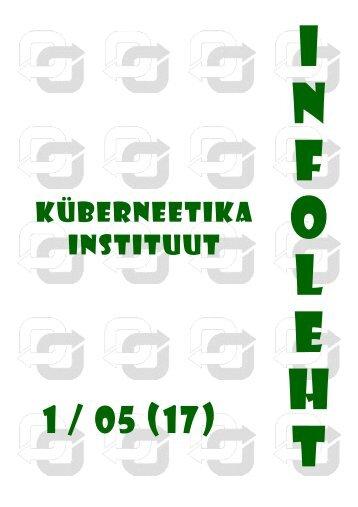 1(17): 5. juuli 2005 - TTÜ Küberneetika Instituut