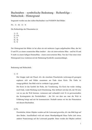 Buchstaben – symbolische Bedeutung ... - story dealer berlin
