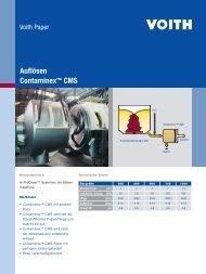Auflösen Contaminex™ CMS - Voith