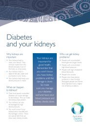 Diabetes and your Kidneys New FS.indd - Australian Diabetes Council