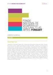 Reseñas Fondart Nacional 2011 - Consejo de la Cultura y las Artes