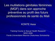 Les mutilations génitales féminines (MGF)dans son approche ...