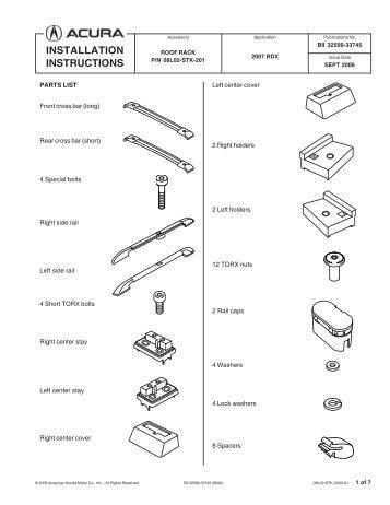 Installation Instructions Src Off Road Roof Rack Smittybilt