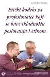 Etički kodeks za profesionalce koji se bave skladnošću poslovanja i ...