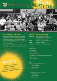 Registration form and Camp flyer - Doncaster Hockey Club