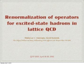 Ekaterina V. Mastropas - QNP2012 - Sciencesconf.org
