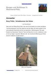 Annweiler Burg Trifels- Schatzkammer der Kaiser - Burgen-Web.de