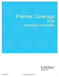 Premier 5000 - Lovelace Health Plan