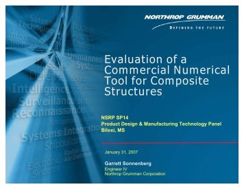 Evaluation of a Commercial Numerical Tool for Composite ... - NSRP