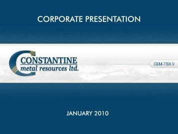 Palmer Project - Constantine Metal Resources Ltd.