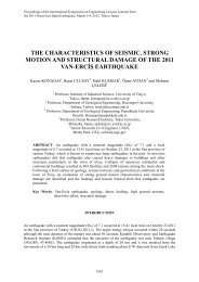 The Characteristics of Seismic, Strong Motion and Structural ...