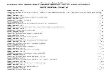 Psicologia del soccorritore in servizio - ANPAS Provincia di Modena