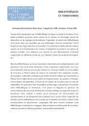 BIBLIOTHÈQUES ET TERRITOIRES - Arald