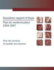 Deuxième rapport d'étape plan de modernisation 2004-2007