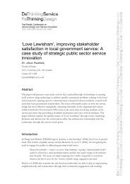 improving stakeholder satisfaction in local government ... - ServDes.
