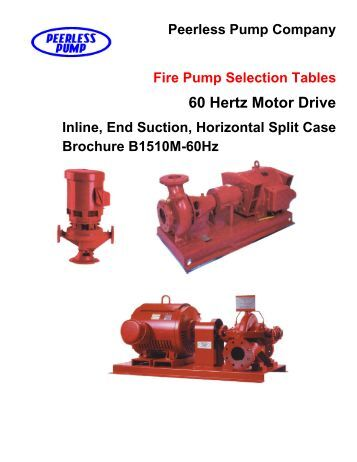 Pump Selection: Peerless Pump Selection